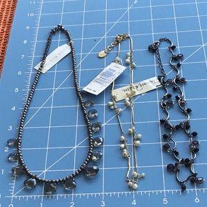 Anne Klein Trio Necklaces Purple Pearl three Brand